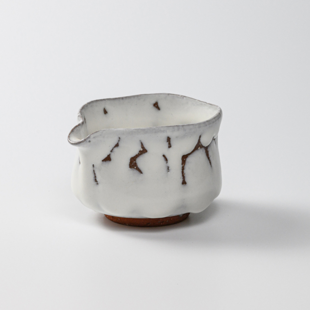 萩焼(伝統的工芸品)湯冷まし小鬼白筒No201