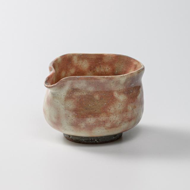 萩焼(伝統的工芸品)湯冷まし中御本手筒No211