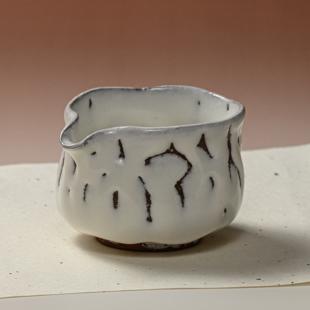 萩焼(伝統的工芸品)湯冷まし中鬼白松筒
