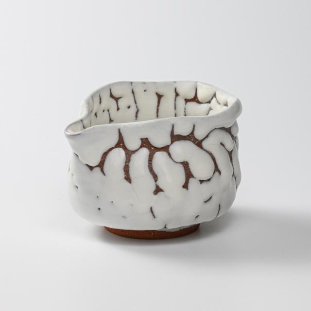 萩焼(伝統的工芸品)湯冷まし大鬼白松筒No221