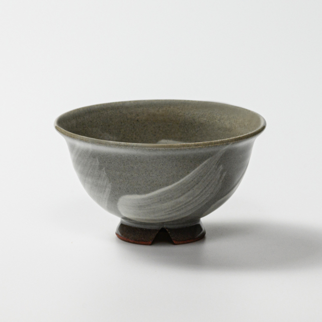 萩焼(伝統的工芸品)飯碗小刷毛青朝顔