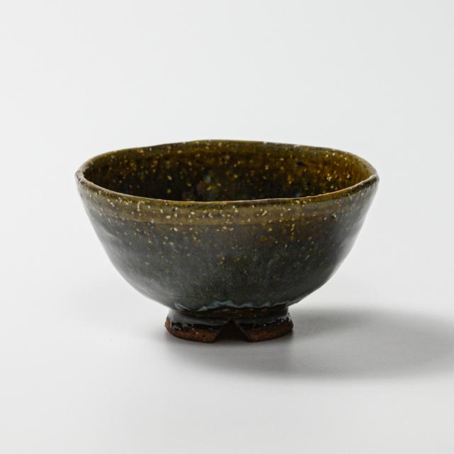 萩焼(伝統的工芸品)飯碗小鉄青釉呉器No304