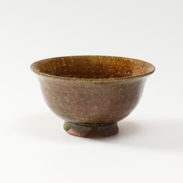 萩焼(伝統的工芸品)飯碗小鉄釉朝顔