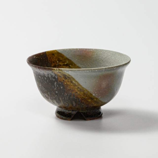 萩焼(伝統的工芸品)飯碗掛分け(御本手&鉄釉)朝顔
