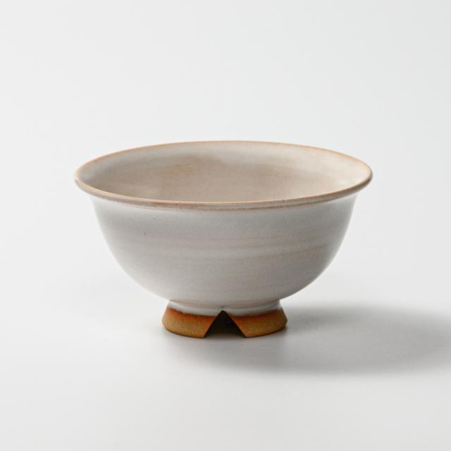 萩焼(伝統的工芸品)飯碗白姫朝顔