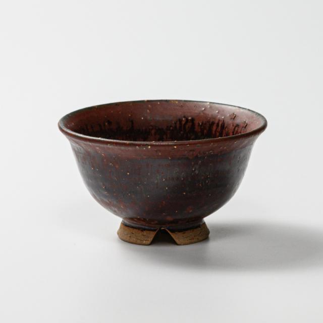 萩焼(伝統的工芸品)飯碗小鉄赤釉荒朝顔No310