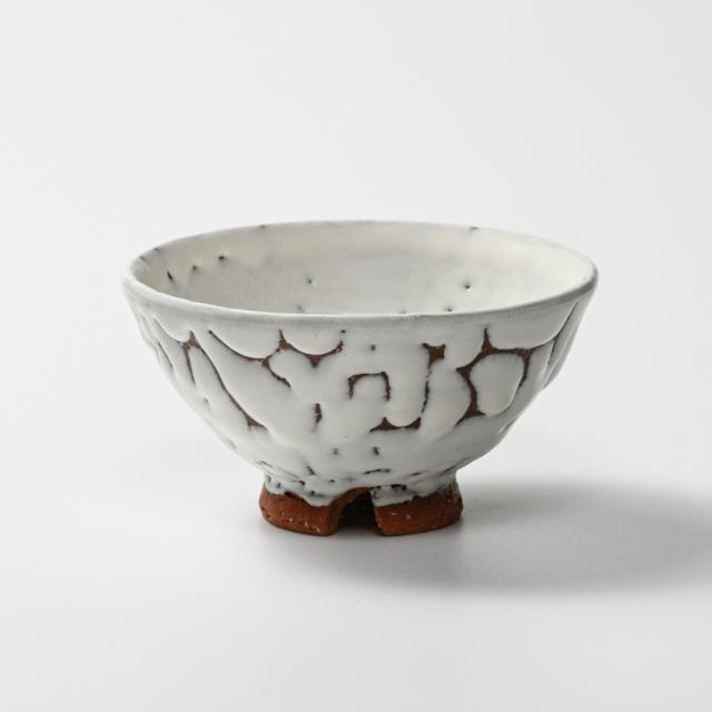 萩焼(伝統的工芸品)飯碗鬼白松末広