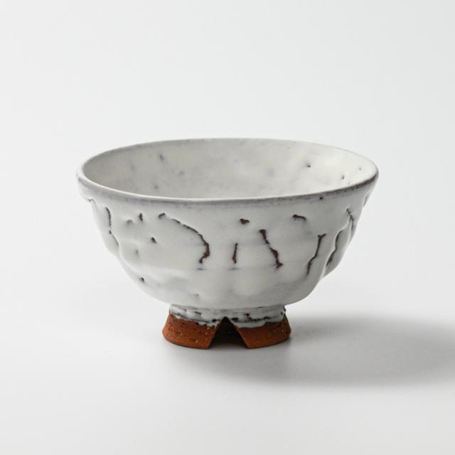 萩焼(伝統的工芸品)飯碗小鬼白竹末広No315