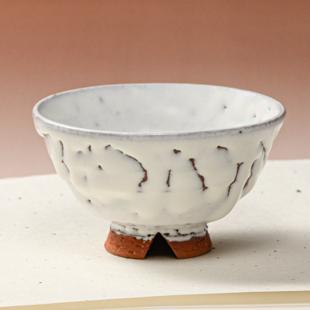 萩焼(伝統的工芸品)飯碗小鬼白竹末広