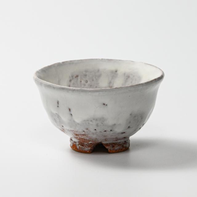 萩焼(伝統的工芸品)飯碗小鬼白荒竹朝顔No317