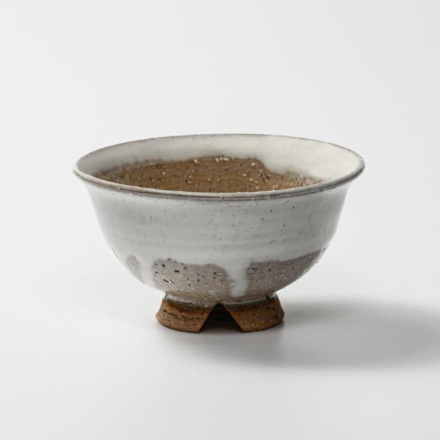萩焼(伝統的工芸品)飯碗小白萩掛分け朝顔No322