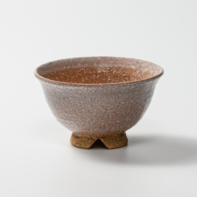 萩焼(伝統的工芸品)飯碗小鬼萩朝顔No323