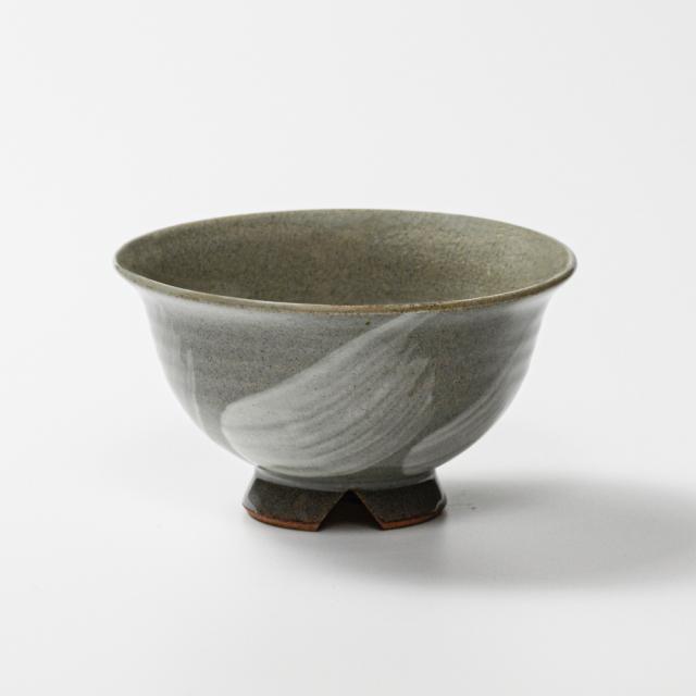 萩焼(伝統的工芸品)飯碗大刷毛青朝顔