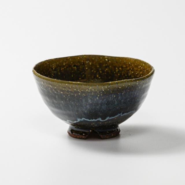 萩焼(伝統的工芸品)飯碗大鉄青釉呉器No344