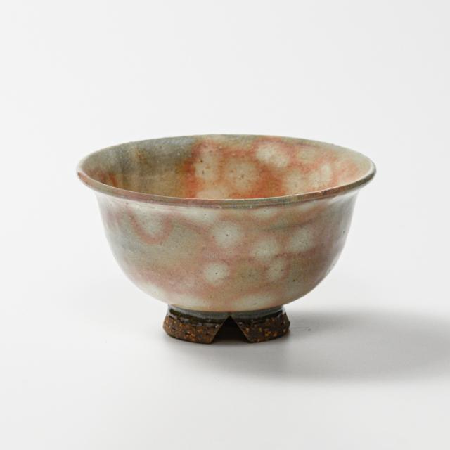 萩焼(伝統的工芸品)飯碗大御本手朝顔No345