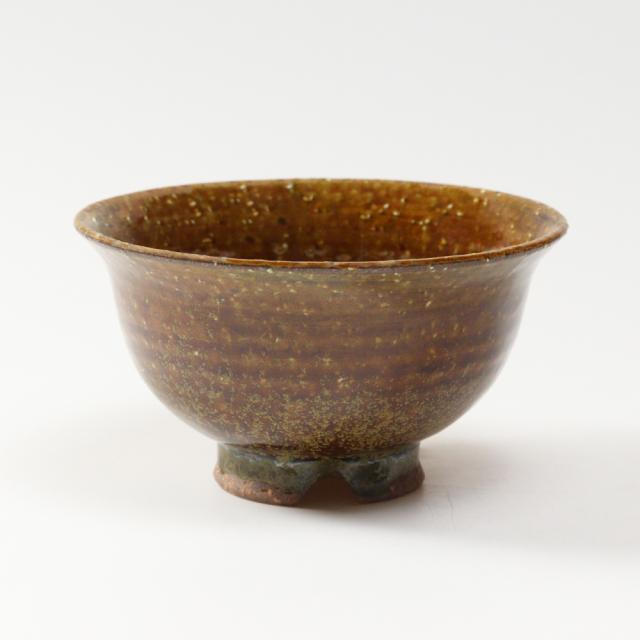 萩焼(伝統的工芸品)飯碗大鉄釉朝顔