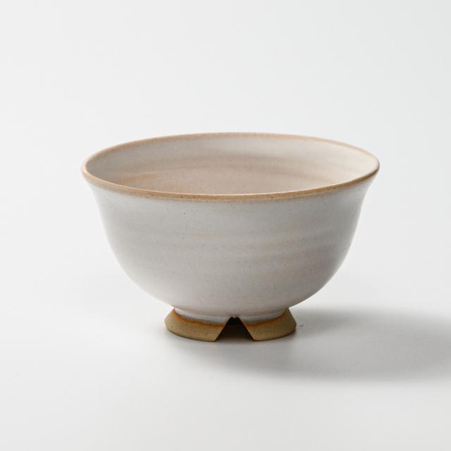 萩焼(伝統的工芸品)飯碗大白姫朝顔