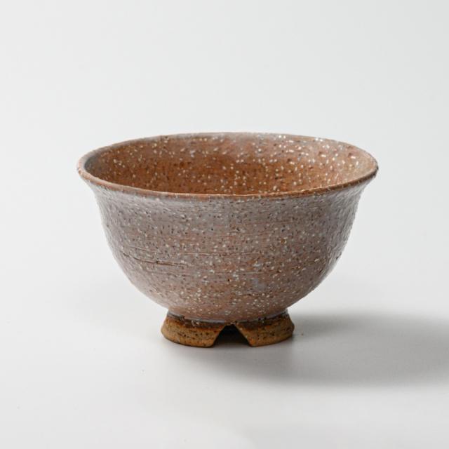 萩焼(伝統的工芸品)飯碗大鬼萩朝顔No362