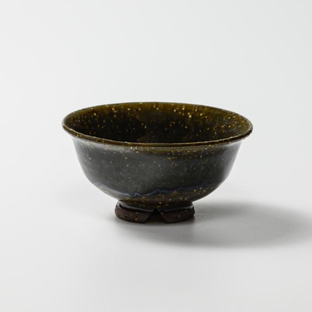 萩焼(伝統的工芸品)飯碗極小鉄青釉朝顔