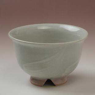 萩焼(伝統的工芸品)汁碗刷毛姫朝顔