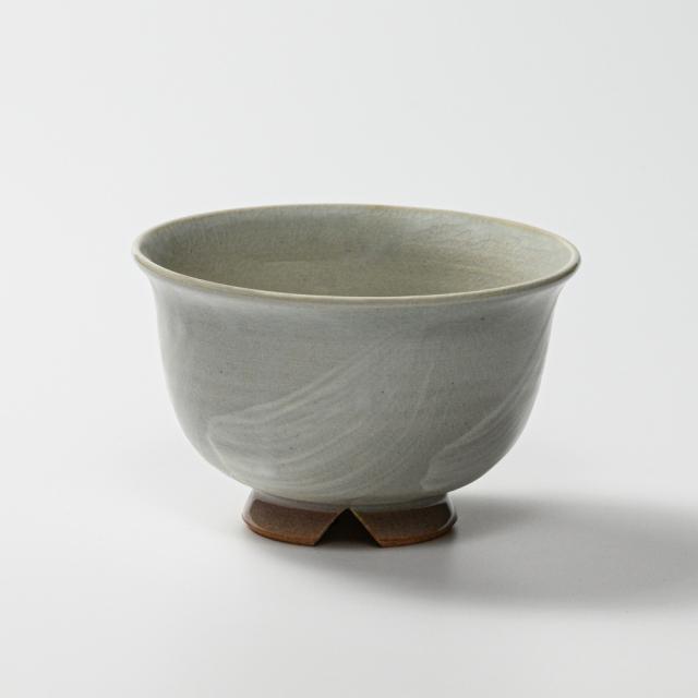 萩焼(伝統的工芸品)汁碗刷毛姫朝顔No401