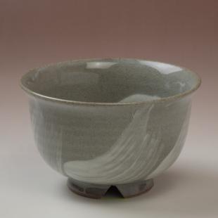 萩焼(伝統的工芸品)汁碗刷毛青朝顔