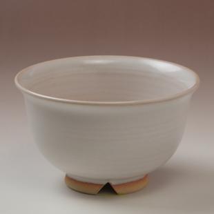 萩焼(伝統的工芸品)汁碗白姫朝顔
