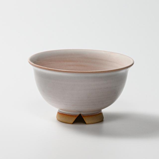 萩焼(伝統的工芸品)汁碗白姫朝顔No403