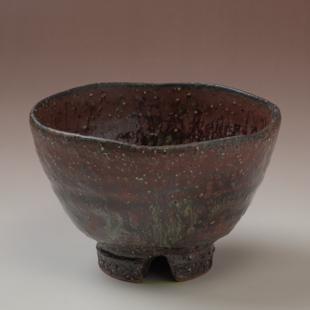 萩焼(伝統的工芸品)汁碗鉄赤釉荒呉器