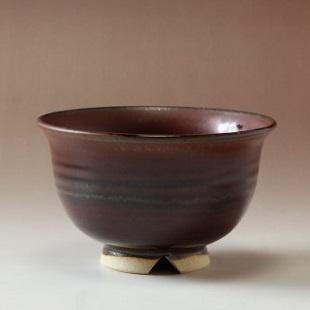萩焼(伝統的工芸品)汁碗鉄赤釉朝顔