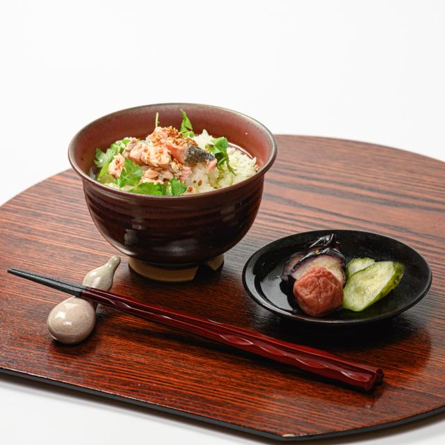萩焼(伝統的工芸品)汁碗鉄赤釉朝顔No405
