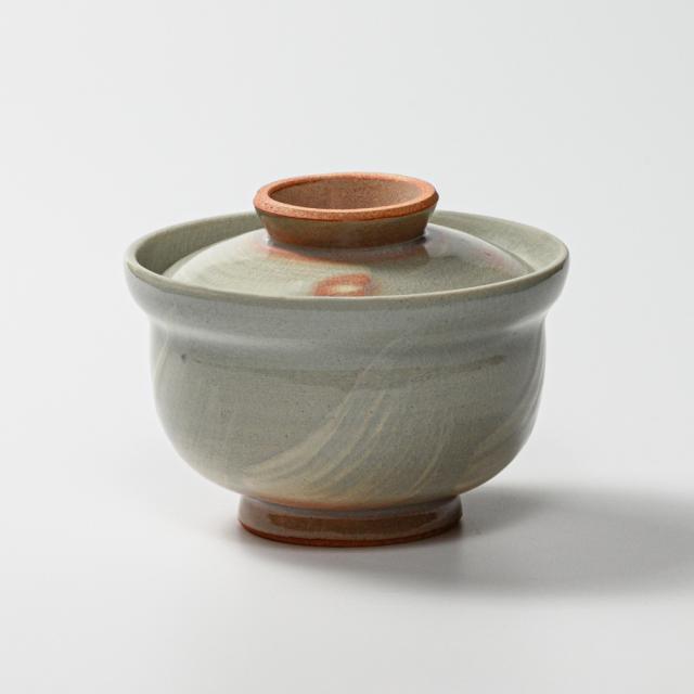 萩焼(伝統的工芸品)蓋付碗刷毛姫丸