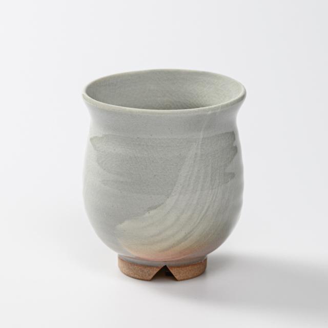 萩焼(伝統的工芸品)湯呑大刷毛姫丸