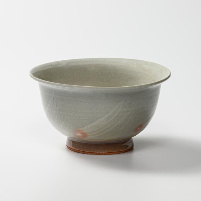 萩焼(伝統的工芸品)どんぶり刷毛姫朝顔No431