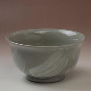 萩焼(伝統的工芸品)どんぶり小刷毛青朝顔