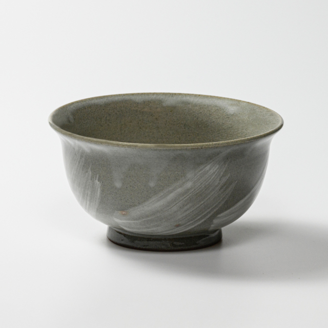 萩焼(伝統的工芸品)どんぶり刷毛青朝顔No432