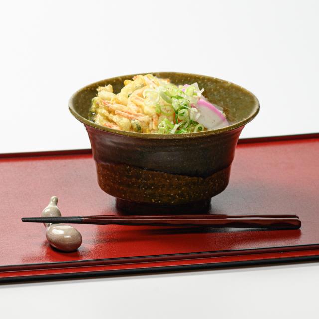 萩焼(伝統的工芸品)どんぶり鉄青釉端反No434
