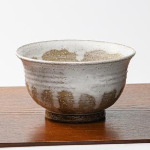萩焼(伝統的工芸品)どんぶり小白萩掛分け朝顔