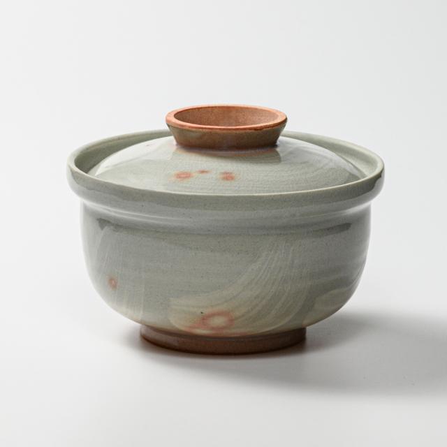 萩焼(伝統的工芸品)蓋付どんぶり刷毛姫丸No451