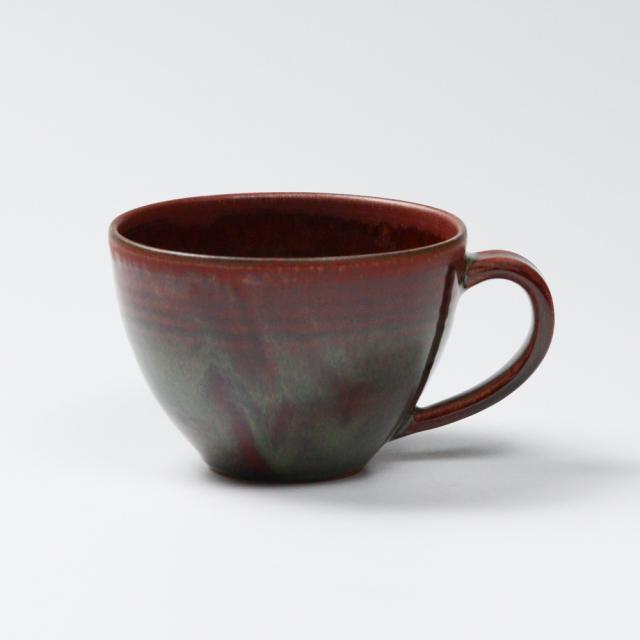 萩焼(伝統的工芸品)とってどん小鉄赤釉呉器No464