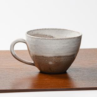 萩焼(伝統的工芸品)とってどん小白萩掛分け呉器
