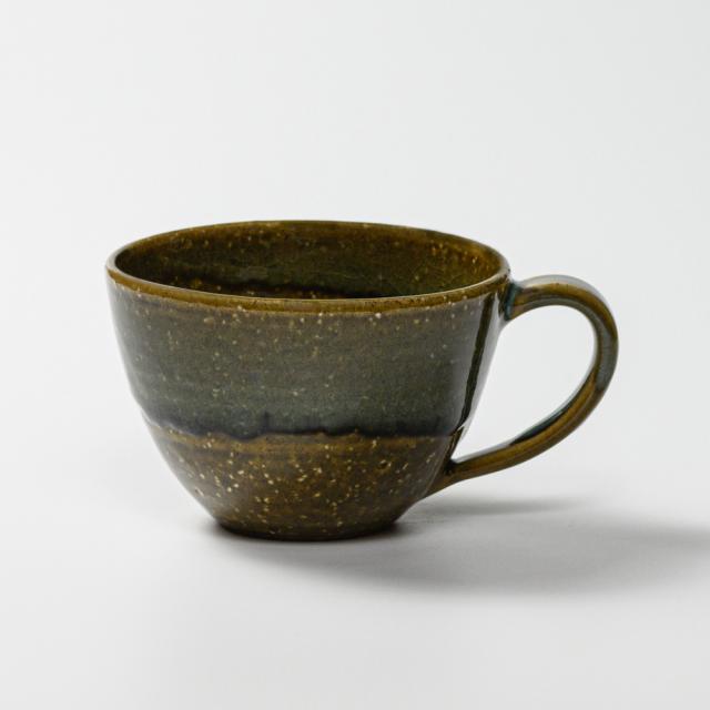 萩焼(伝統的工芸品)とってどん小鉄青釉呉器No467