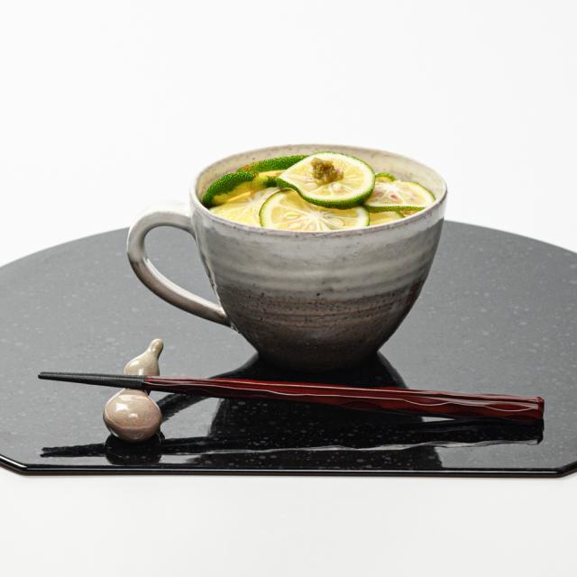 萩焼(伝統的工芸品)とってどん大白萩掛分け呉器