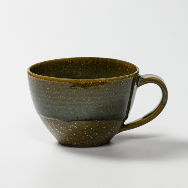 萩焼(伝統的工芸品)とってどん大鉄青釉呉器No487