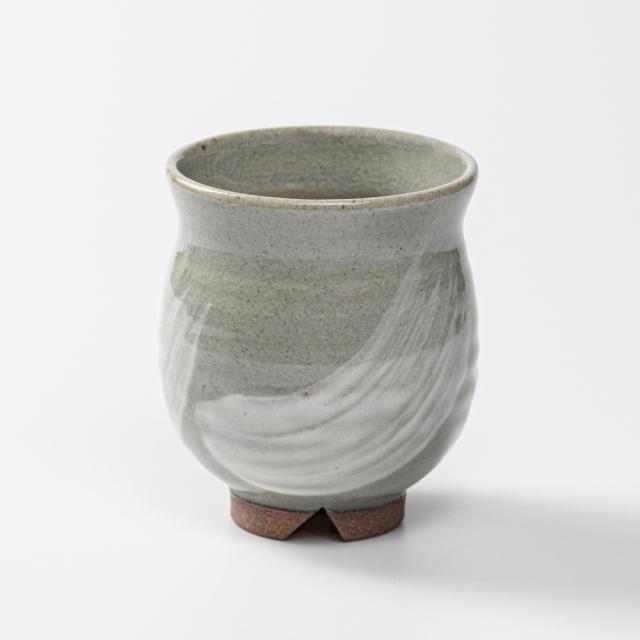 萩焼(伝統的工芸品)湯呑小刷毛青丸