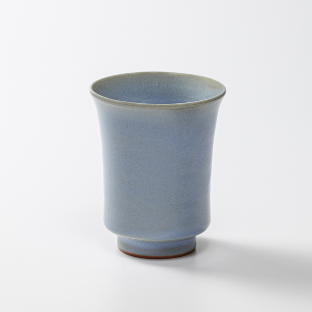 萩焼(伝統的工芸品)タンブラー小淡青釉端反