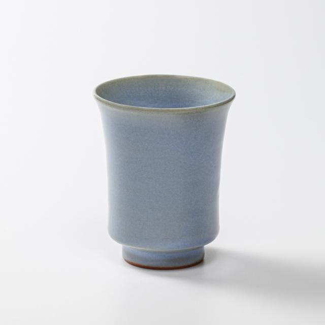 萩焼(伝統的工芸品)タンブラー小淡青釉端反No5007