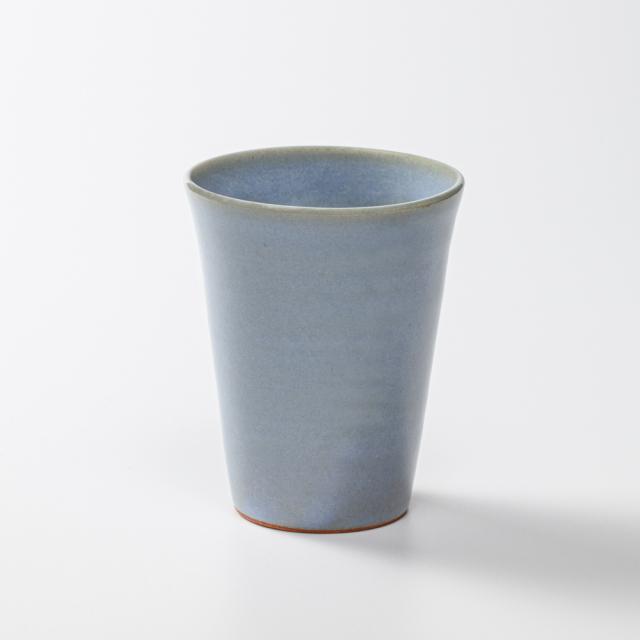 萩焼(伝統的工芸品)タンブラー小淡青釉筒碁笥底No5009