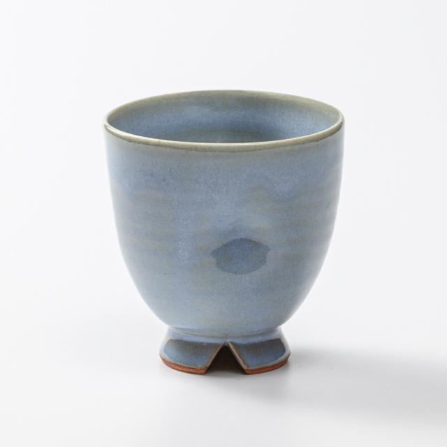 萩焼(伝統的工芸品)フリーカップ淡青釉呉器えくぼNo5012