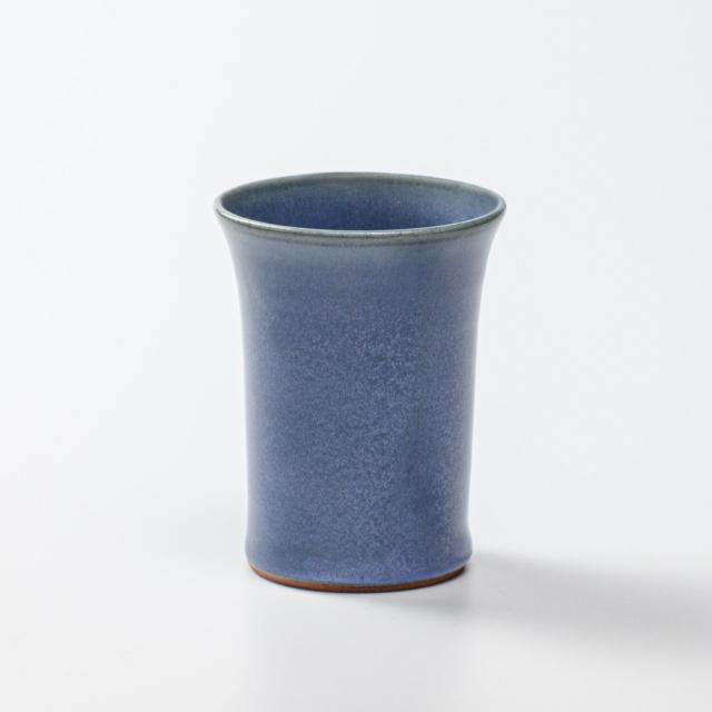 萩焼(伝統的工芸品)ミニタンブラー青釉端反碁笥底